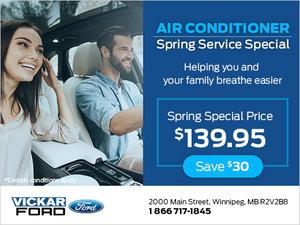 Air Conditioner Spring Service Special