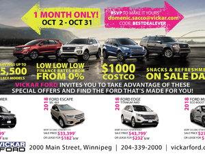 Vickar Ford Special Offer