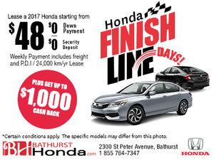 Honda Finish Line Days!