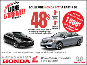 Jours Ligne d'arrivée Honda