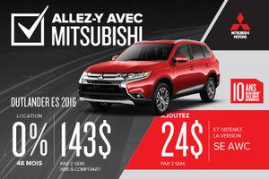 Mitsubishi Outlander 2016 à la location