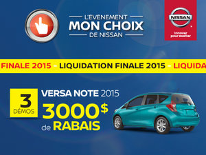 Liquidation de Versa Note 2015 !