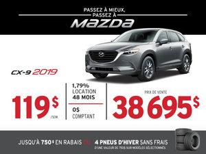 PASSEZ À MIEUX – PASSEZ AU GROUPE BEAUCAGE MAZDA avec le MAZDA CX-9 2019