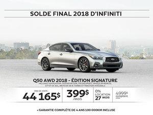 Q50 AWD 2018 – Édition SIGNATURE  Démo
