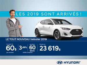 Nos Hyundai Veloster 2019 sont arrivés!