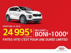 Le Sportage LX 2019 - Boni de 1 000$ inclus!