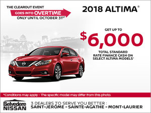 Save on the 2018 Altima!