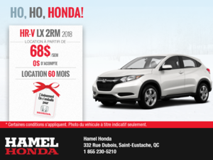 Louez la Honda HR-V 2018