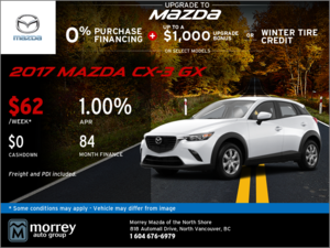 Save on the 2018 Mazda CX-3 GX Today!