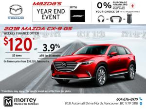 Drive Home a 2018 Mazda CX-9 Today!