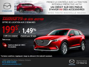 Obtenez la Mazda CX-9 2018 aujourd'hui! chez Performance Mazda à Ottawa