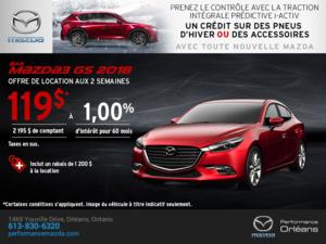 Obtenez une Mazda 3 2018 aujourd'hui! chez Performance Mazda à Ottawa