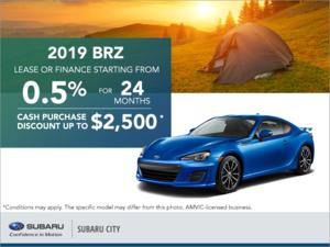 Get the 2019 Subaru BRZ Today!