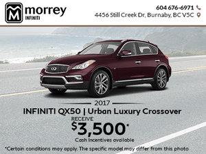 2017 Infiniti QX50 at Morrey Infiniti