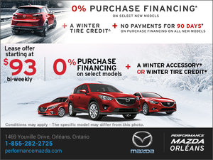 Take control with Mazda!