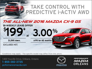 Lease the 2016 Mazda CX-9 GS Today!