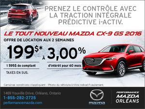 Louez la Mazda CX-9 GS 2016 aujourd'hui! chez Performance Mazda à Ottawa