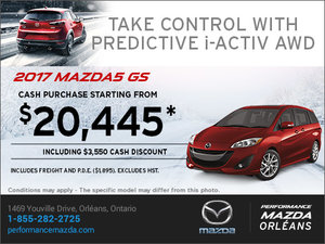 Save Big on the 2017 Mazda5 GS Today