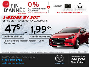 Financez une Mazda 3 GX 2017 aujourd'hui! chez Performance Mazda à Ottawa