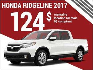 Le nouveau Honda Ridgeline Sport 2017 à 124$ par semaine chez Groupe Vincent à Shawinigan et Trois-Rivières