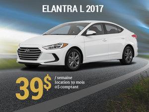 Roulez avec la Hyundai Elantra L 2017 pour seulement 39$/sem. chez Groupe Vincent à Shawinigan et Trois-Rivières