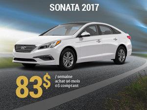 Seulement 83$ / semaine pour rouler en Hyundai Sonata 2017 chez Groupe Vincent à Shawinigan et Trois-Rivières