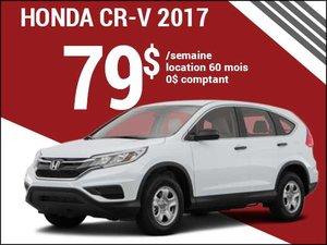 Découvrez le Honda CR-V 2017 pour 79$ par semaine chez Groupe Vincent à Shawinigan et Trois-Rivières