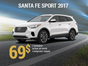 Seulement 69$/semaine pour un Hyundai Santa Fe Sport 2017 chez Groupe Vincent à Shawinigan et Trois-Rivières