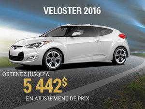 Obtenez jusqu'à 5 442$ en ajustement de prix pour le Hyundai Veloster 2016 chez Groupe Vincent à Shawinigan et Trois-Rivières