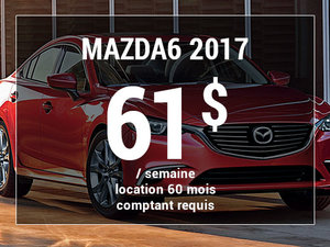 Roulez en Mazda6 GX 2017 à partir de 61$ / semaine chez Groupe Vincent à Shawinigan et Trois-Rivières