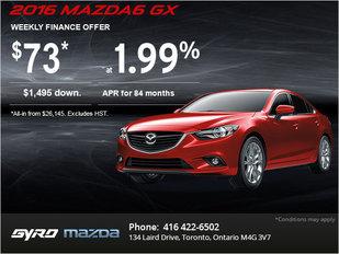 Drive Home an All-New 2016 Mazda6 GX!