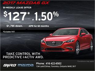 Drive Home an All-New 2017 Mazda6 GX!