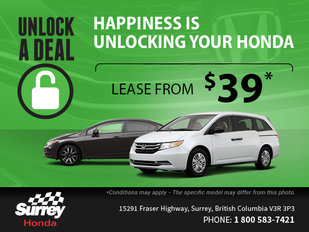 Drive home a new Honda today!