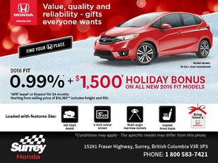 Get a New 2016 Honda Fit Today!