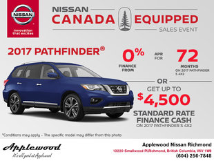 Get the 2017 Nissan Pathfinder Today!