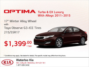 Get Winter Alloy Wheel Tires for Your Optima Turbo & EX Luxury!