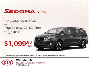 Get Winter Steel Wheel Tires for Your Sedona 2015+!
