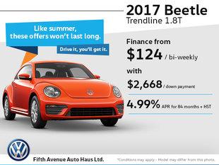 Drive home the 2017 Volkswagen Beetle