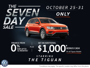 The 7 Day Sale Starring the Tiguan!