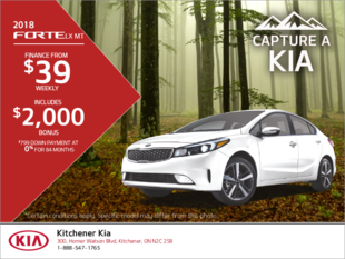 Lease the 2018 Kia Forte!