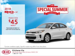 Finance the 2018 Kia Rio 5-Door!