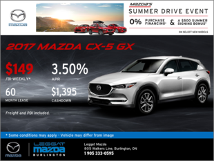 Lease the All-New 2017 CX-5 GX