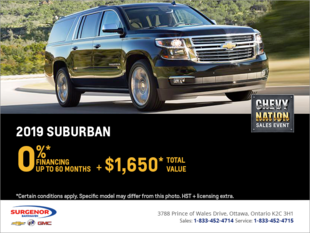 Finance the 2019 Chevrolet Suburban