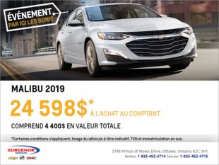 Obtenez la Chevrolet Malibu 2019