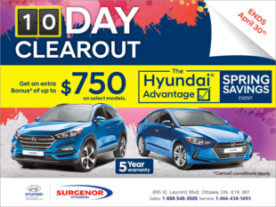 Hyundai's 10 Day Clearout Event!