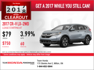 Lease the 2017 Honda CR-V