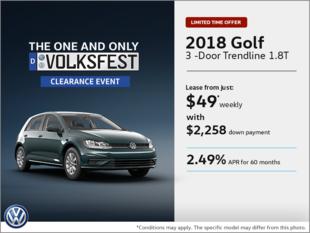 Get the 2018 Golf 3-Door!