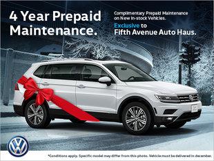 Complimentary 4 year Prepaid Maintenance!