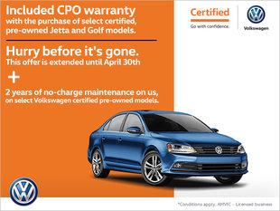 Certified Pre-Owned Warranty Offer