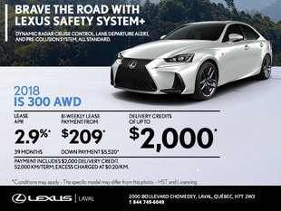 Save on the 2018 Lexus IS Today